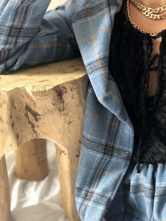Jupe à carreaux éthique - La Mode de Mélissa - Marque éthique et écoresponsable de vêtements féminins