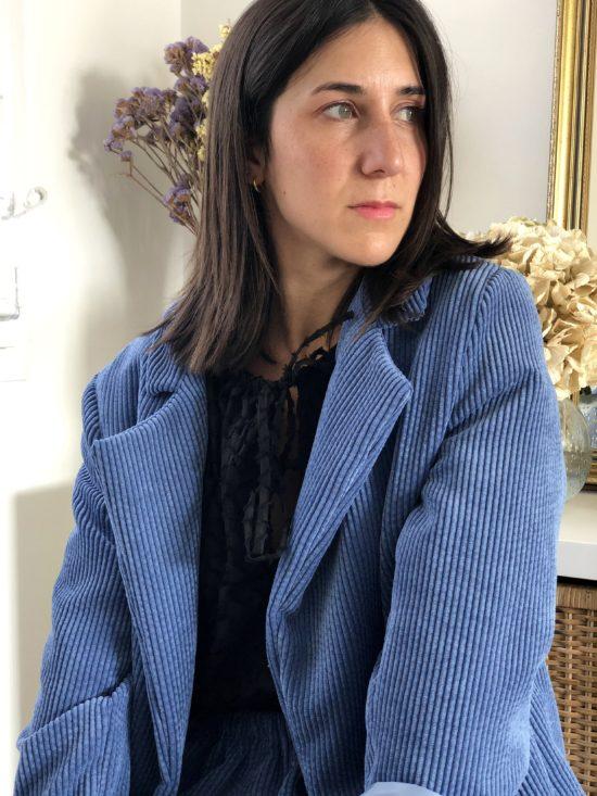 Jupe éthique en velours cotelé - La Mode de Mélissa - Marque éthique et éco-responsable - couture