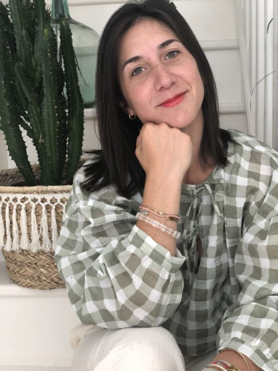 Blouse à carreaux - look automne femme - La Mode de Mélissa - Mode éthique et éco-responsable - mode fait main en France
