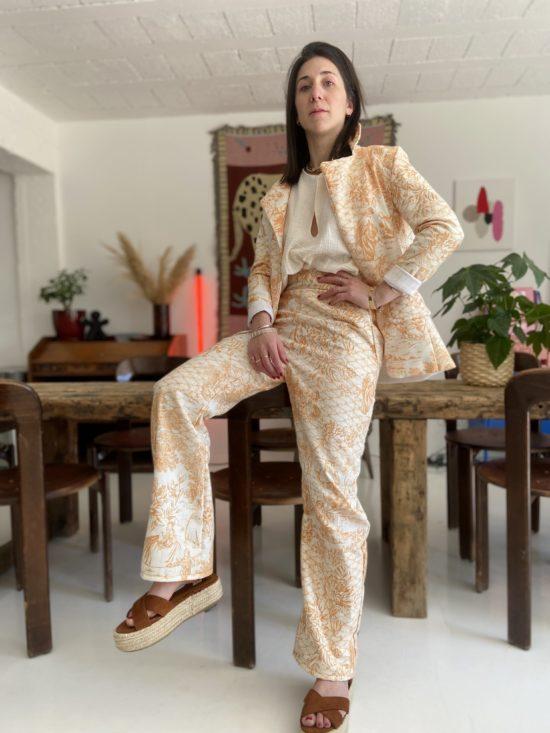 Costume toile de jouy - La Mode de Mélissa - Mode éco-responsable et éthique - Artisan