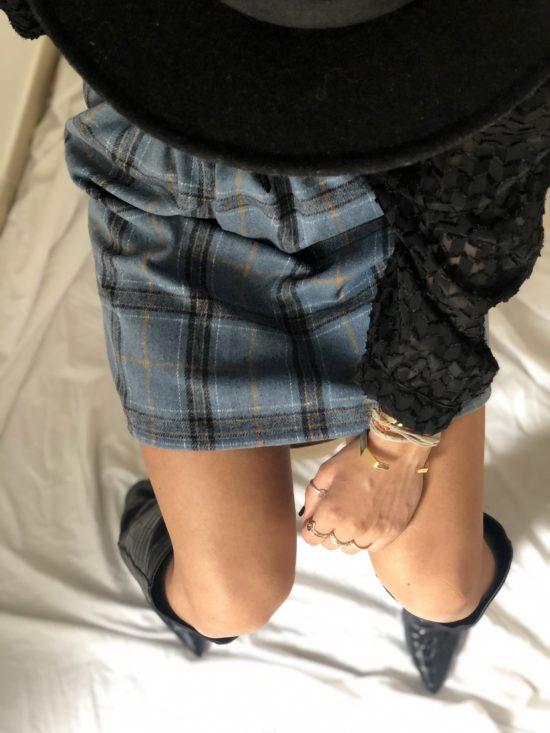 Jupe à carreaux éthique - La Mode de Mélissa - Marque éthique et écoresponsable vêtements féminins