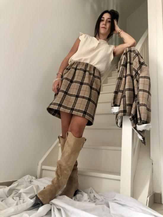 Jupe éthique écossais - La Mode de Mélissa - Marque éthique de vêtements féminins fabriqués en France -slowfashion - marque éthique