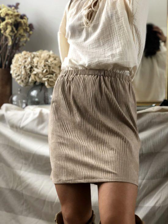 Jupe éthique en suédine - La Mode de Mélissa - Marque éthique et éco-responsable de vêtements feminins - marque française engagée