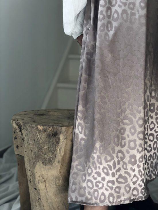 Jupe éthique longue motif léopard - La Mode de Mélissa - Marque éthique et éco-responsable fabriquée en France - couture slowfashion