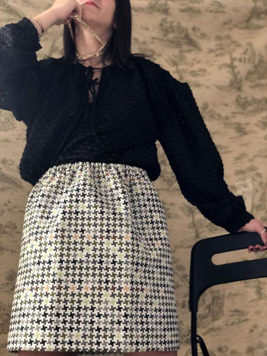 Jupe droite éthique - La Mode de Mélissa - Marque éthique et éco-responsable de vêtements féminins fabriqués en France - marque pour la planète