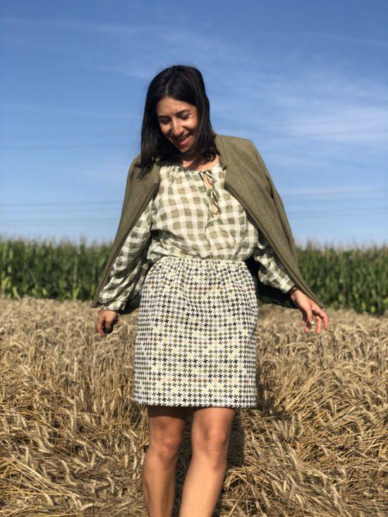 Jupe droite - Jupe éthique - La Mode de Mélissa marque éthique et écoresponsable Made in France