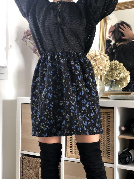 Jupe droite fleurie - Mode éthique et éco-responsable - La Mode de Mélissa - Slowfashion mode automne, hiver 2020, marque française, fabriquée en france
