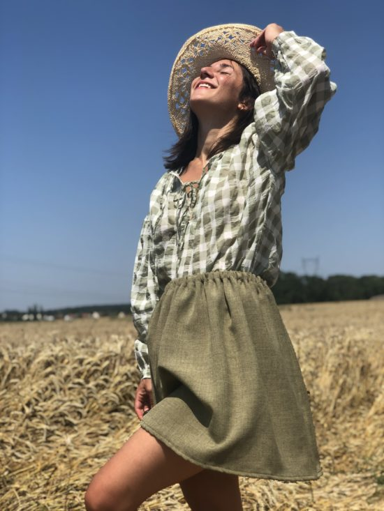 Jupe été - Jupe femme - Jupe éthique - Jupe éco-responsable - La Mode de Mélissa - Jupe Made in France - fait main