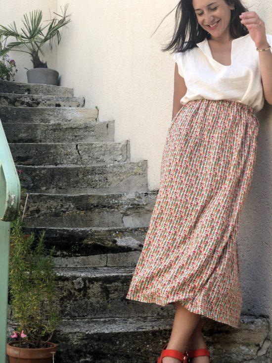 Jupe été - Jupe longue - jupe femme - Jupe éthique - jupe éco-responsable - La Mode de Mélissa - Marque éthique et éco-responsable