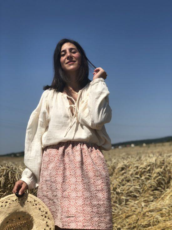 Jupe été courte femme - jupe éthique - Jupe éco responsable - Jupe Made in France - La Mode de Mélissa, marque éthique et éco-responsable