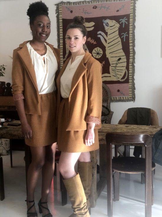 Jupe patineuse éthique - La Mode de Mélissa - Mode éthique pour femme - Fabriqué en France