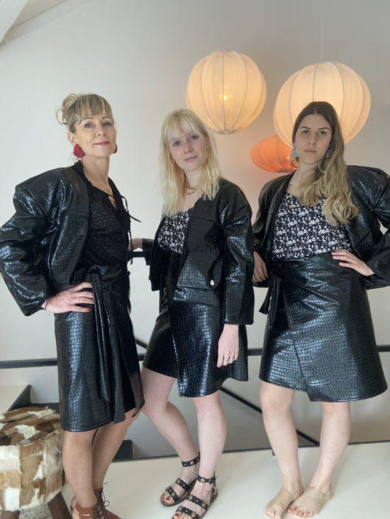 Jupe portefeuille similicuir - Imprimé croco - La Mode de Mélissa - Mode éthique - Artisanat - couture
