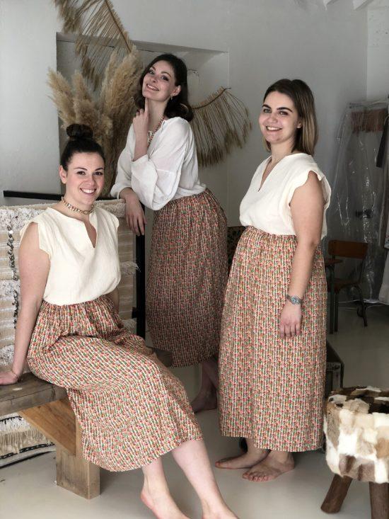 Jupe éthique artisanat - Jupe longue - Marque éthique de vêtements - Mode éthique - La Mode de Mélissa - artisanat français - yvelines