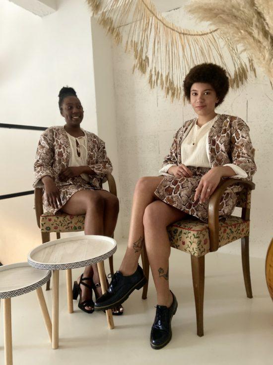 Jupe simili python - Veste python - La Mode de Mélissa - Mode éthique - Marque française - couture
