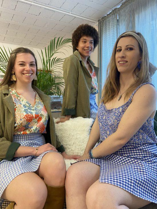 Jupe vichy portefeuille – La Mode de Mélissa – Marque éthique de vêtements féminins – Fabriqué en France