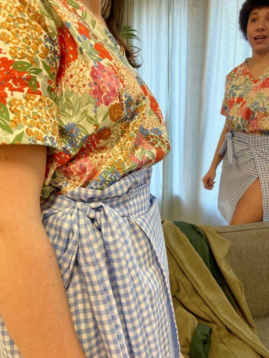 Jupe vichy portefeuille - La Mode de Mélissa - Marque éthique de vêtements féminins - Mode éthique