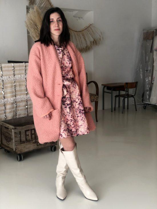 Manteau mouton rose - La Mode de Mélissa - Marque éthique de vêtements - Mode éthique et éco responsable