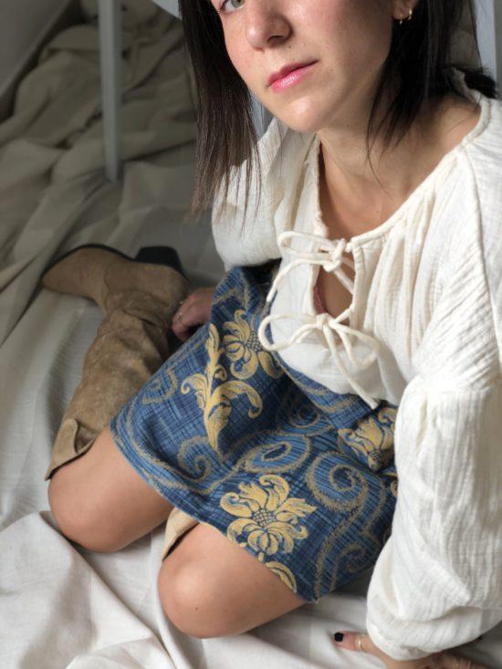 Mode éthique et éco-responsable - La Mode de Mélissa - Jupe droite fabriquée en France - couture - styliste Made in France