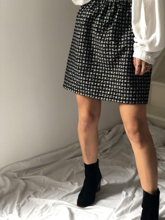 Mode éthique et éco-responsable - La Mode de Mélissa - Jupe droite fabriquée en France créatrice de mode française