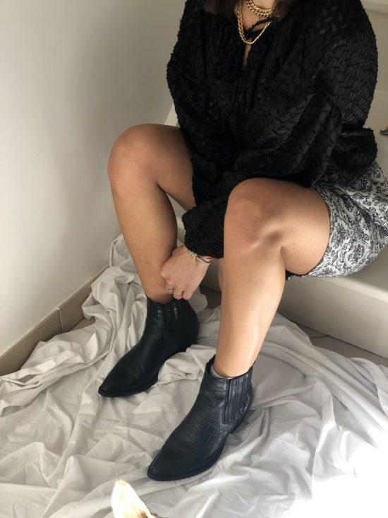 Mode éthique et éco-responsable - La Mode de Mélissa - jupe droite jacquard - couture - styliste - marque française
