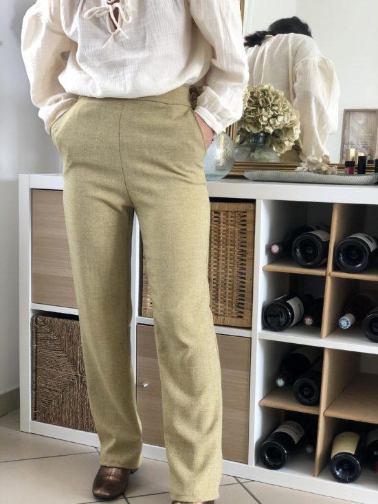 Mode éthique et éco-responsable - La Mode de Mélissa - pantalon droit - couture - styliste marque durable couture