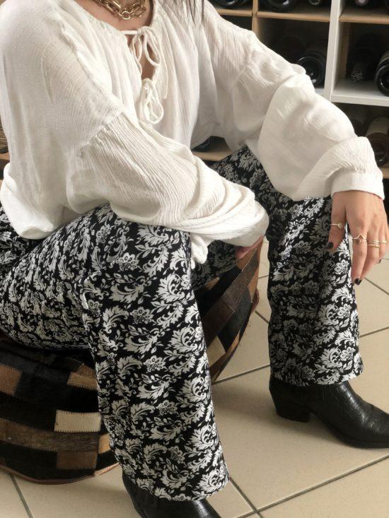 Pantalon droit éthique - La Mode de Mélissa - Marque éthique et éco-responsable fabriquée en France -mode durable et éthique