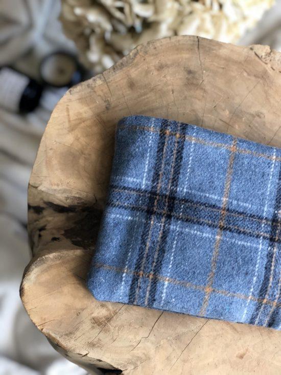 Pochette 100% upcycling - La Mode de Mélissa - Mode éthique, pochette à carreaux - mode durable