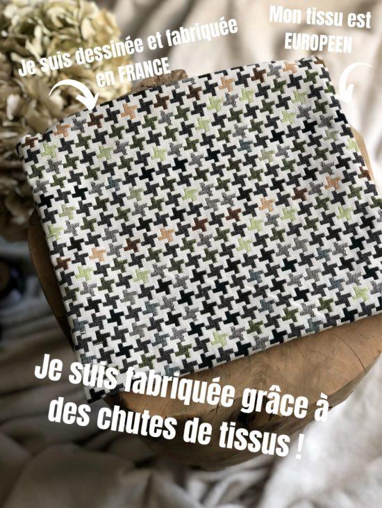 Pochette 100% Upcycling - La Mode de Mélissa- Marque éthique et éco-responsable de vêtements - Made In France