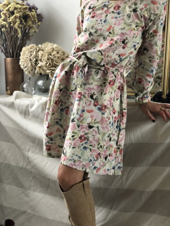 Robe éthique fleurie collection hiver - La Mode de Mélissa - Mode éthique et éco-responsable - vêtements éthique