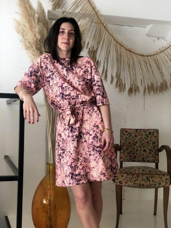 Robe decoleté dos - La Mode de Mélissa - Marque éthique de vêtements - fait main dans les Yvelines