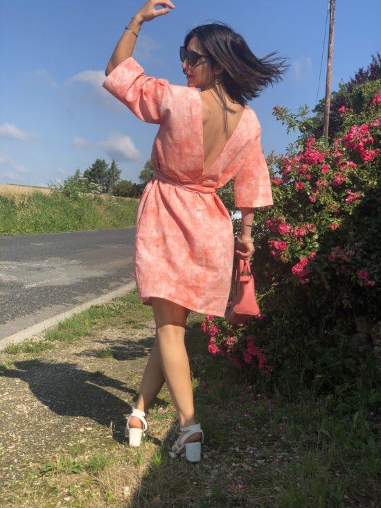 Robe été décolleté - Robe femme - Robe éthique et éco-responsable - La Mode de Mélissa, marque éthique de vêtements pour femme