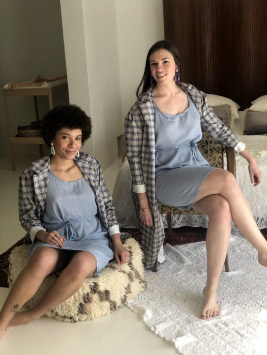 Robe plumetis bleu pastel - La Mode de Mélissa - Artisan Yvelines, marque de créateur