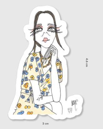 Stickers femme - La Mode de Mélissa x Cindy Fontaine - girl power