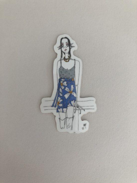 Stickers femme jupe portefeuille - La Mode de Mélissa x Cindy Fontaine