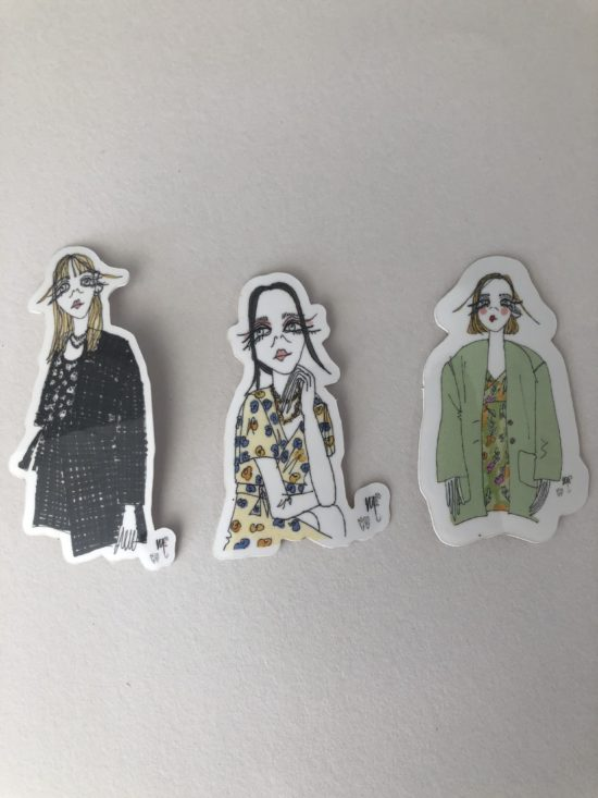 Stickers femme - La Mode de Mélissa x Cindy Fontaine - artisanat