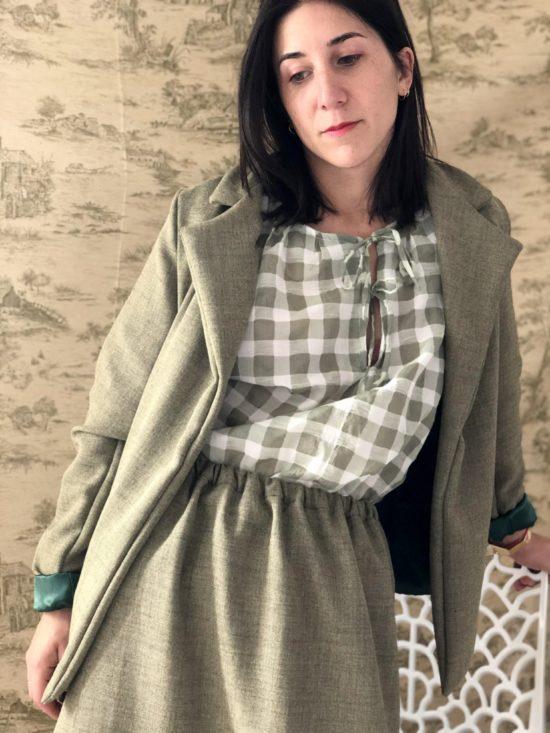 blazer éthique droite - La Mode de Mélissa - Mode éthique et éco-responsable de vêtements féminins