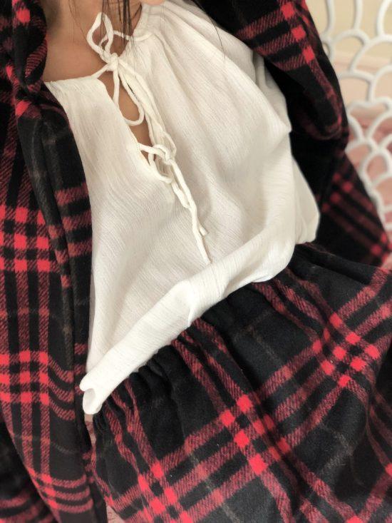 jupe écossaise éthique - La Mode de Mélissa - Marque éthique de vêtements féminins dessinés et cousus en France - mode éco-responsable