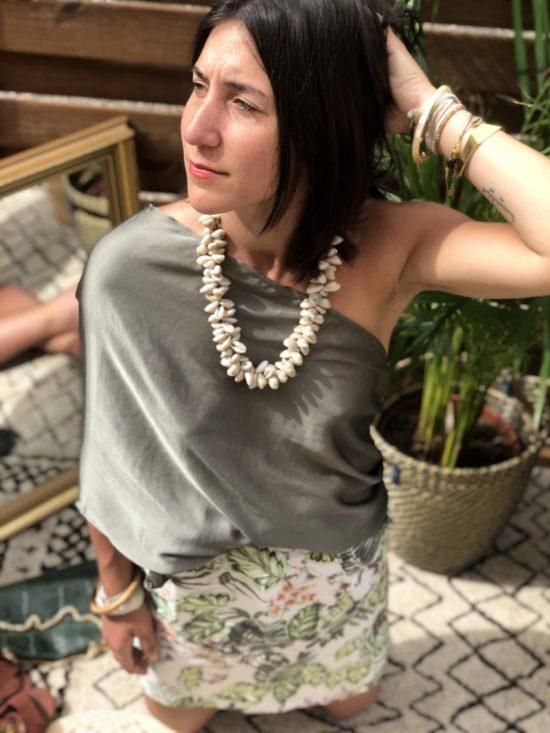 jupe droite look tropical - fait main en France, La Mode de Mélissa - marque française ecoresponsable