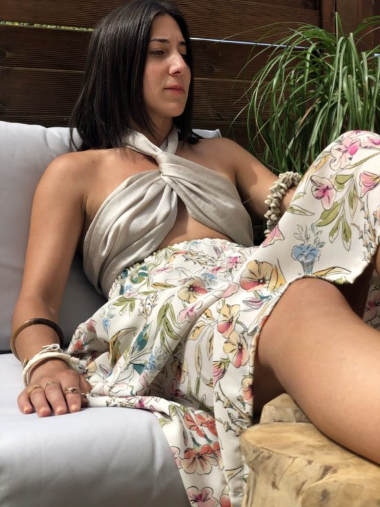 jupe longue fleurie bohème fait main en France - La Mode de Mélissa - marque française et éthique