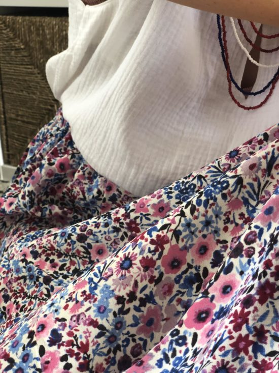 jupe longue fleurie - look automne femme - La Mode de Mélissa - Mode éthique et éco-responsable durable