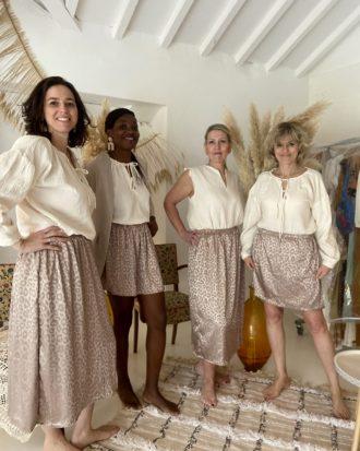 jupe longue léopard - La Mode de Mélissa - Marque éthique