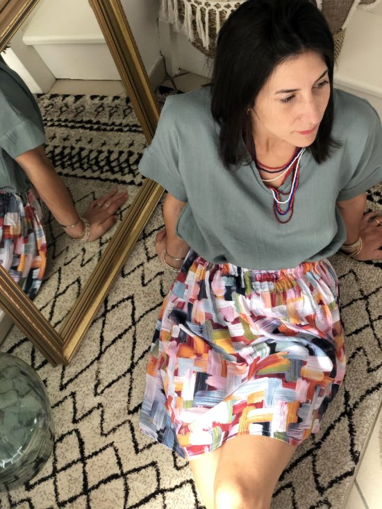 jupe patineuse colorée - look automne femme - La Mode de Mélissa - Mode éthique et éco-responsable - mode durable