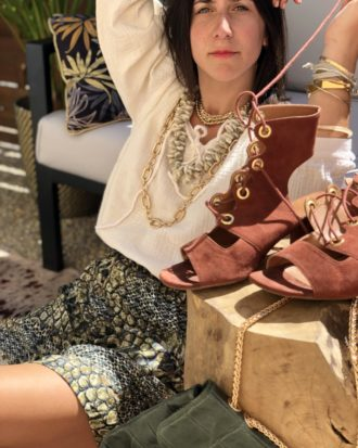 jupe patineuse python fait main en France - La Mode de Mélissa - marque française et éthique