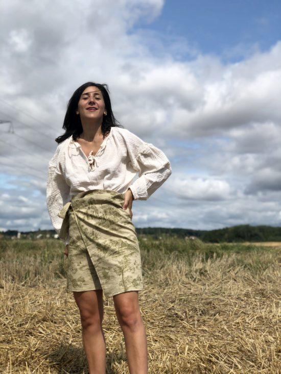 jupe portefeuille - jupe femme - jupe éthique - jupe écoresponsable femme - La Mode de Mélissa, marque éthique et éco responsable