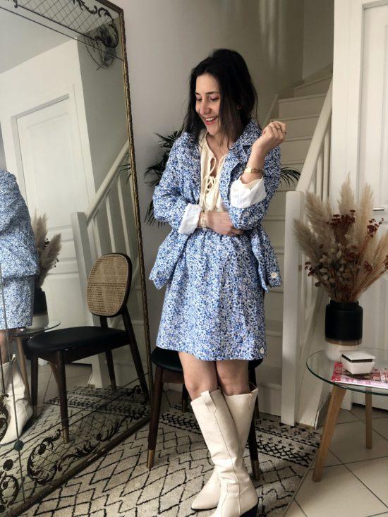 jupe portfeuille vichy bleue - La Mode de Mélissa - Mode éthique et éco-responsable - mode de créateur