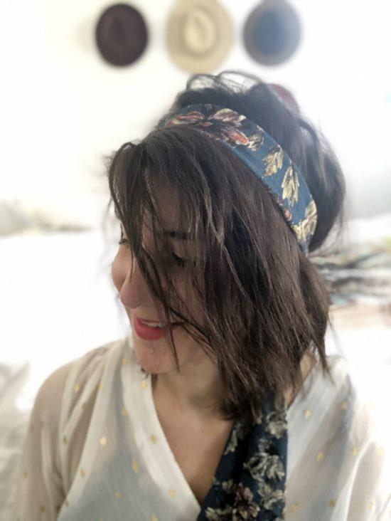 headband vieux bleu