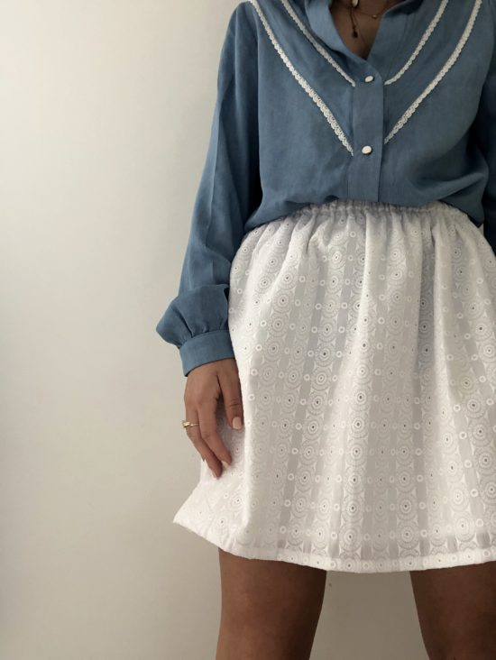 jupe femme broderie anglaise