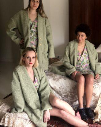 manteau vert mouton - La Mode de Mélissa - Manteau éthique fabriqué en France - Made in France (2)