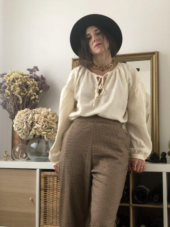pantalon droit éthique à carreaux - La Mode de Mélissa - Marque éthique de vêtements féminins - mode durable