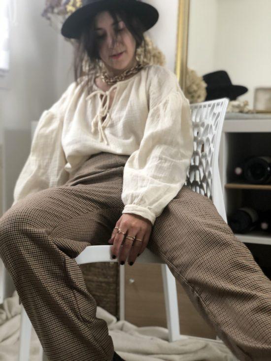 pantalon droit éthique à carreaux - La Mode de Mélissa - Marque éthique de vêtements féminins - mode durable (2)